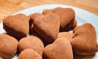 Heart-shaped chocolate truffles
