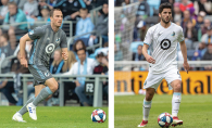 Brent Kallman and Eric Miller, Woodbury natives who play for Minnesota United FC.