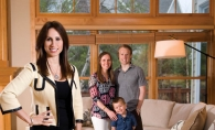 Realtor Kim Ziton, left, and the Shilling family.