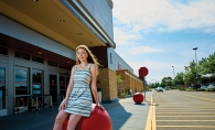 Math & Science Academy student Lily Swanson poses in front of Target. She is a member of the 2019 Senior Spotlight