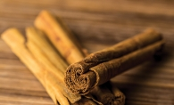 A few sticks of cinnamon for a spiced apple cider recipe.