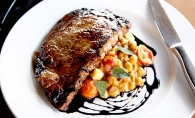 The 10 oz. ribeye from Cravings Wine Bar and Grille.