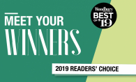 "A graphic that reads ""Meet Your Winners, Woodbury Magazine Best of '19 Readers' Choice"""