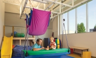 The sensory-friendly gym at Fraser Woodbury.