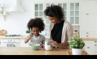 in the kitchen with kids