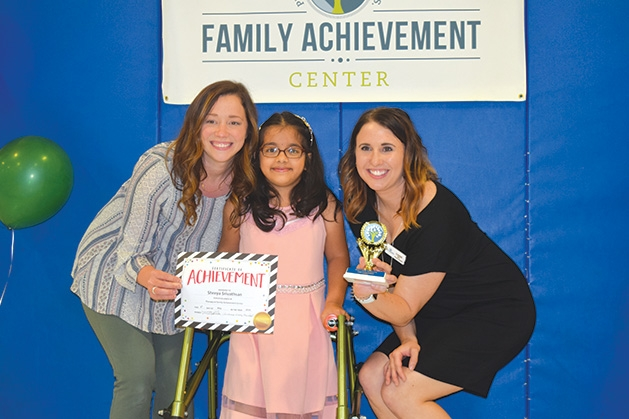 Ashley Lentz, Shreya Srivathsan and Cassie Madsen at the Family Achievement Center Awards Day