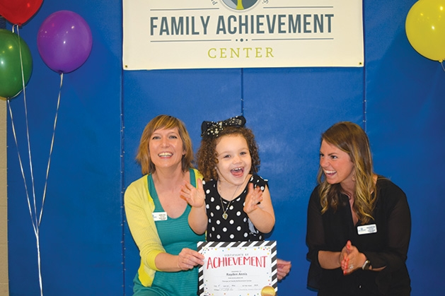 Miriam Rupprecht and Rayden Annis at the Family Achievement Center Awards Day