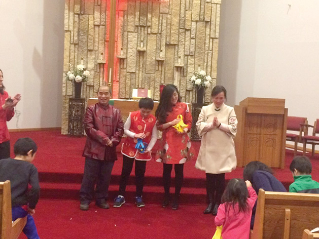 A Chinese New Year celebration at Salem Lutheran Church.