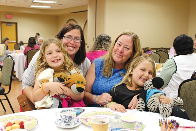 A group of guests at Woodbury Recreation's spring tea party.