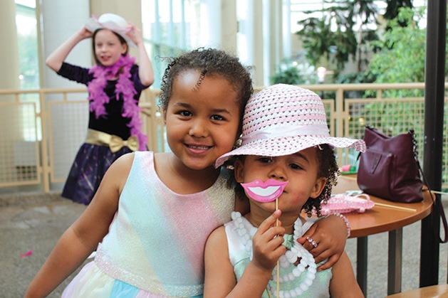Two guests at Woodbury Recreation's spring tea party.