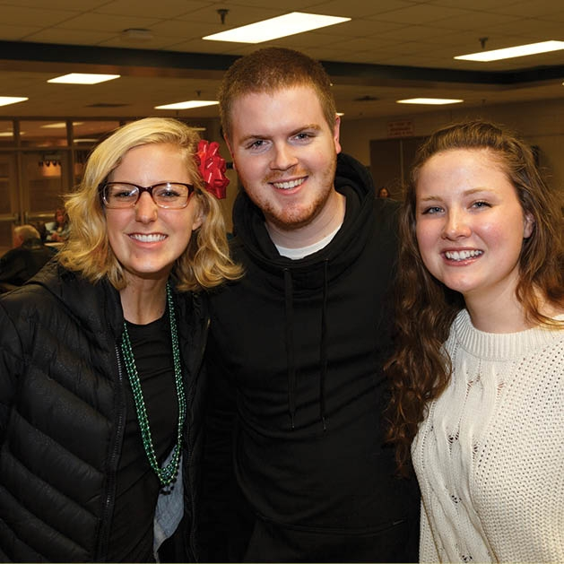 Mary Beck, Austin and Melissa Schultze