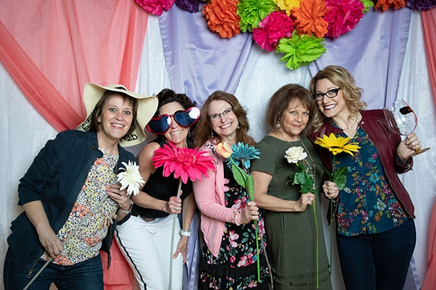Colleen Cullen, Meg May, Lori Sager, Colleen Wenzel, Tami Stauffacher at St. Ambrose of Woodbury's Spring Shindig