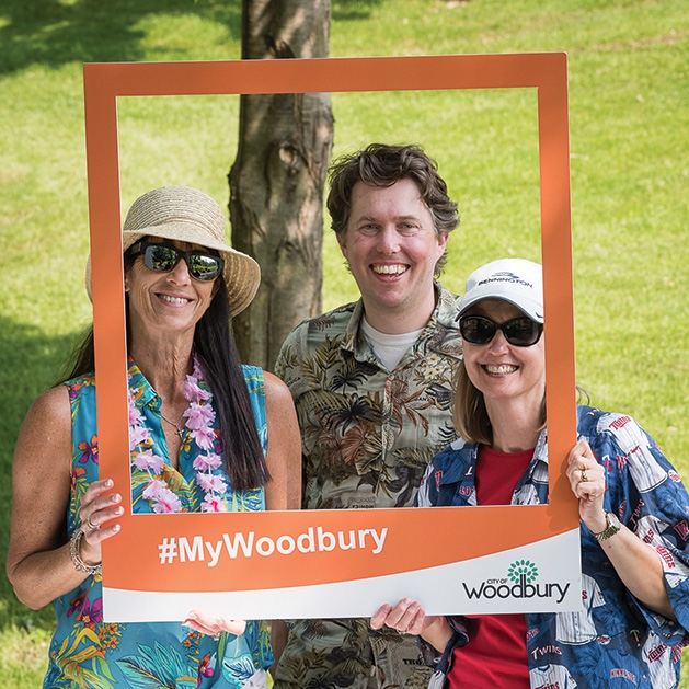 Anne Burt, Karl Batalden and Janelle Schmitz at the 33rd annual Woodbury Area Chamber of Commerce golf tournament.