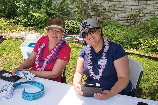 Janice Nelson and Amanda Lathrop at the 33rd annual Woodbury Area Chamber of Commerce golf tournament.