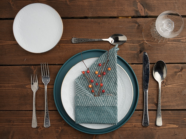 A holiday tablescape