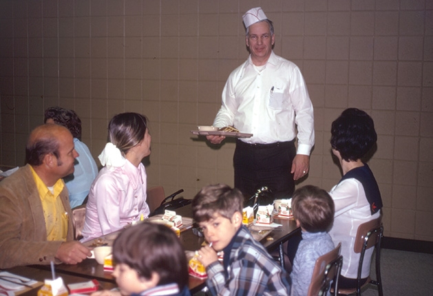 The first Woodbury Lions pancake breakfast in 1972.