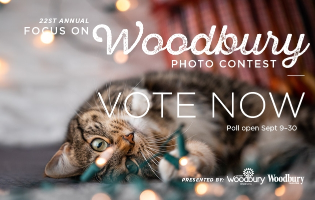 A graphic announcing voting for the 2020 Focus on Woodbury photo contest.
