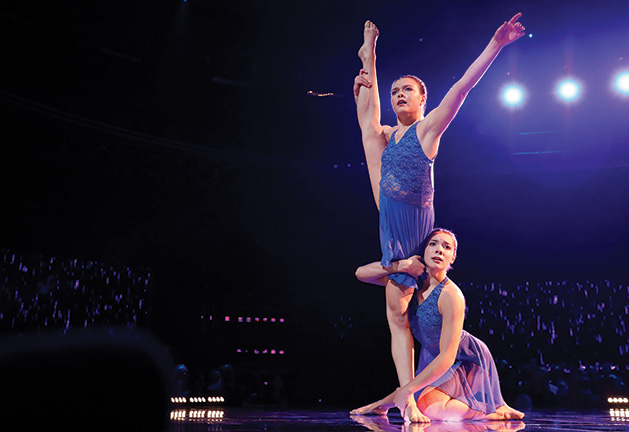 "Woodbury sisters Ellie and Ava Wagner dancing on NBC's ""World of Dance"""