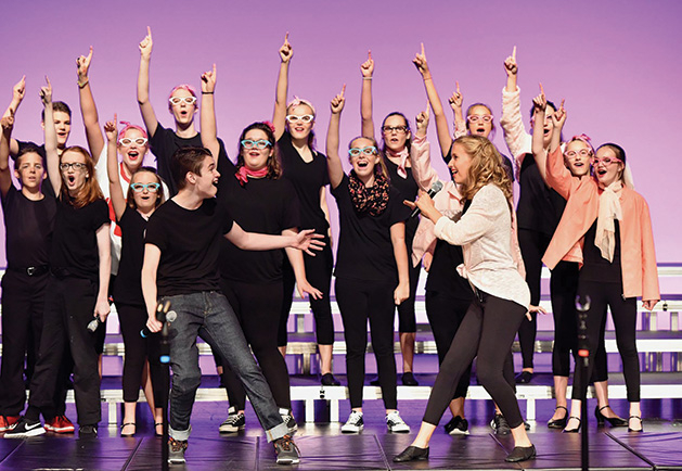 """A production of """"Grease"""" by Woodbury Community Theatre at the Merrill Community Arts Center."""