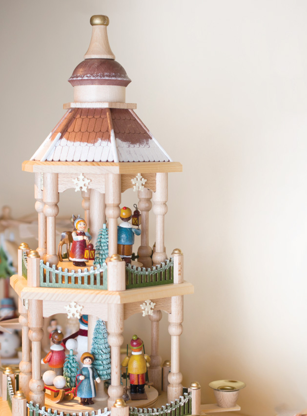 A wooden Christmas decoration.