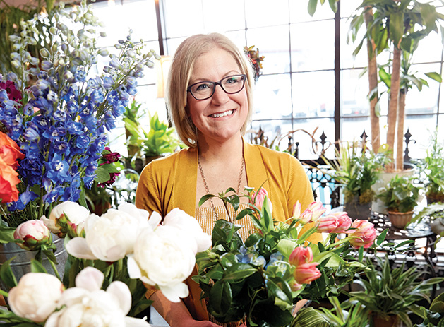 Tara Carlson, owner of Sweet Pea's Floral, voted best florist in the Best of Woodbury 2019 readers' choice survey.