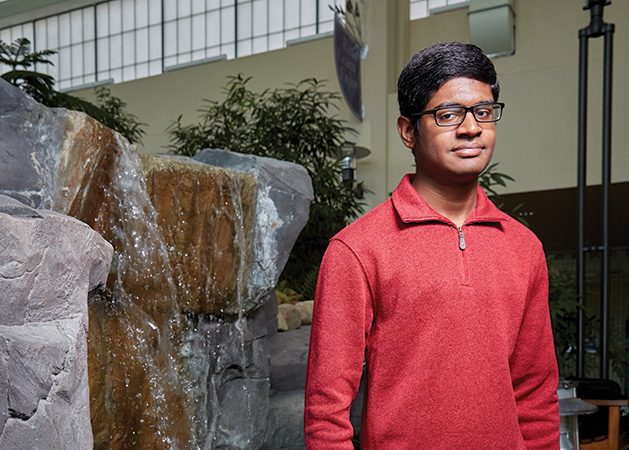 New Life Academy student Kavin Muhil Ramesh, a member of the 2019 Senior Spotlight