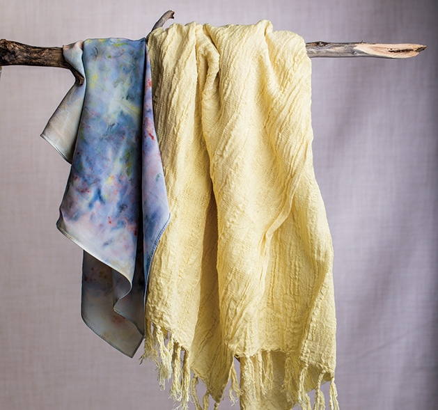 Dyed scarves from Naturally Dyed Goods