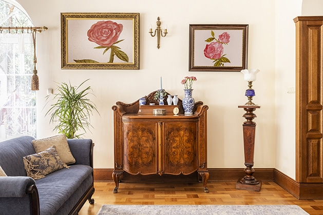 A curated home collection featuring antique furnishings, paintings and more.
