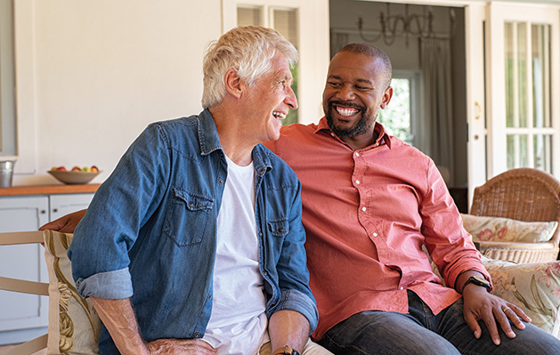 Two men meet at a support group for men's mental health