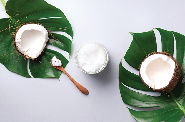 Homemade skin care products made from Coconut oil