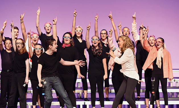 "A production of ""Grease"" by Woodbury Community Theatre at the Merrill Community Arts Center."