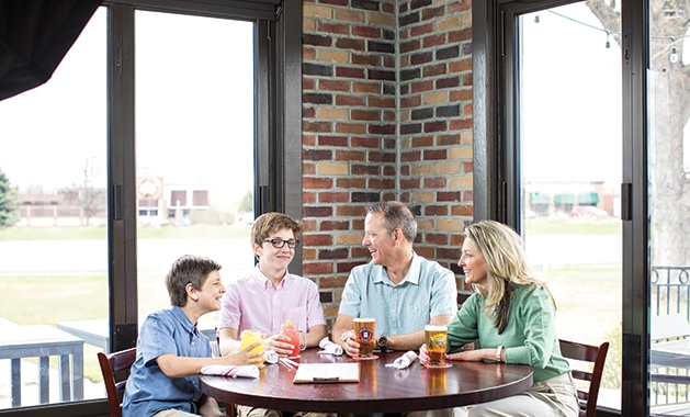 The O'Reilly family at Tamarack Tap Room