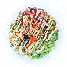 Aloha's bowls are beautiful, rainbow-colored creations perfect for lunch or an after-workout snack. The shop caters, too, so you can feed  a crowd with a variety  of options.