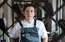 Spencer Venancio, a teen chef who has cooked at Travail, Bardo, Spoon and Stable and other restaurants.