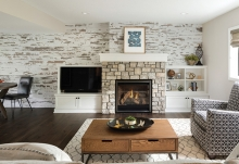 The remodeled basement of Mary Dutra's Woodbury home.