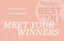 A graphic announcing the Woodbury Magazine Best of Woodbury 2020