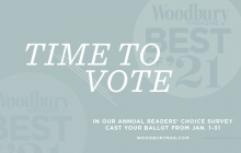 A graphio announcing the Best of Woodbury 2021 contest.