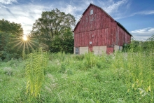 Fading Day at Miller Barn