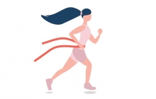 An illustration of a woman exercising.