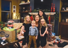 The Lazer family, recipients of gifts from nonprofit Best Christmas Ever