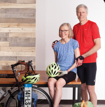 The Carlsons, a Woodbury couple who spent 184 days in Europe across six countries, traveling only by bike.