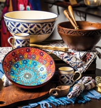 A collection of items for your Thanksgiving table from Small Things Fair Trade shop.