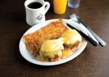 Crab cake eggs Benedict from The Woodbury Cafe.