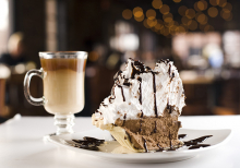 Tamarack Taproom's Mile High French Silk Pie and Irish coffee.