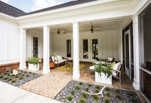 A newly-remodeled paver patio.