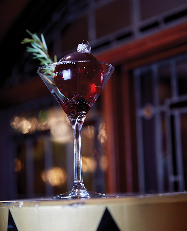 A signature holiday cocktail from Lake Elmo Inn