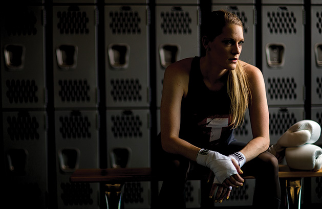 Sarah Krotz, a coach at TITLE Boxing Club Woodbury